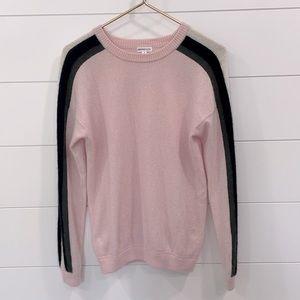 Minnie Rose Light Pink Cashmere Sweater Size M